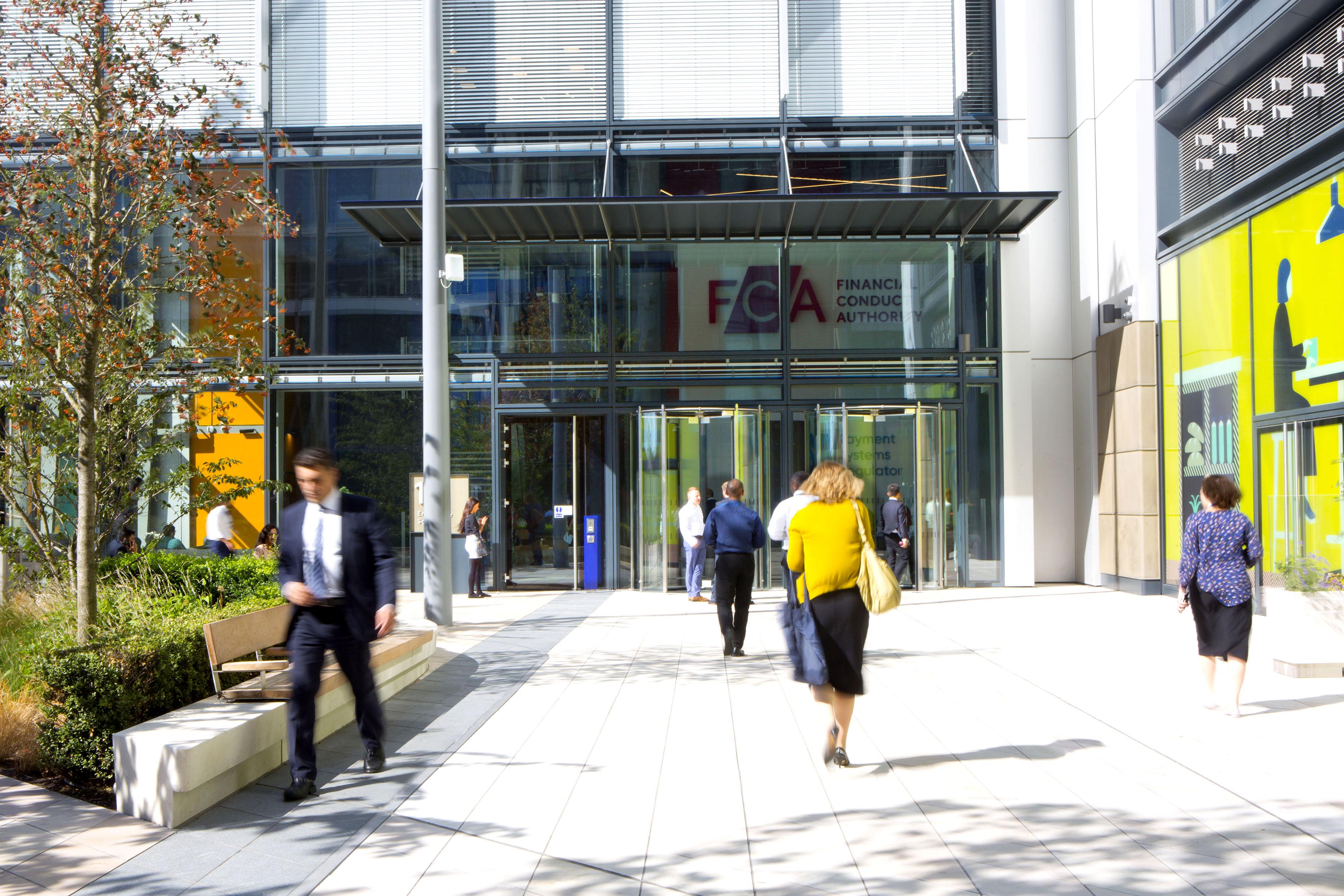 Entrance to FCA building